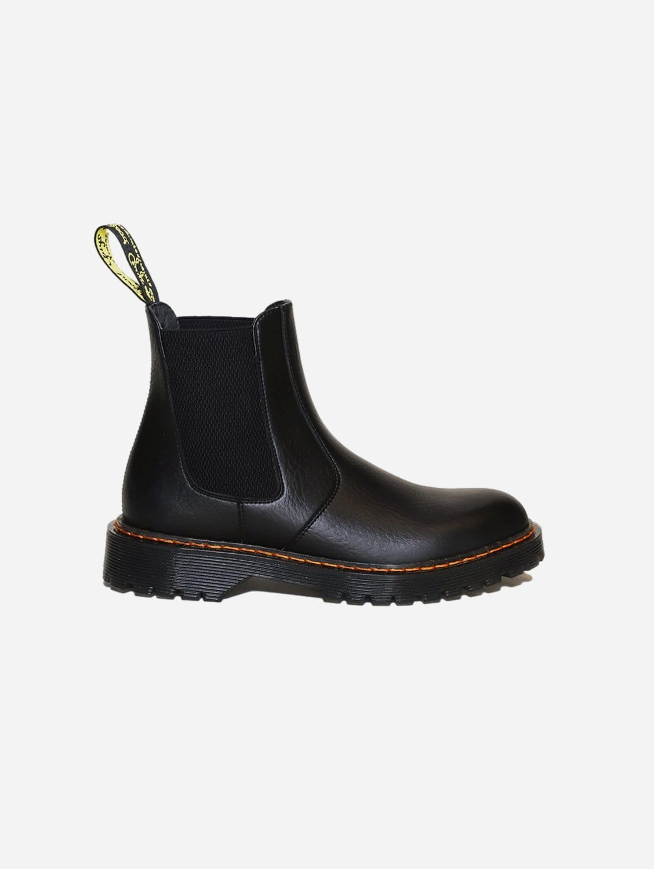Oscar Vegan Leather Dealer Chelsea Boot   Black