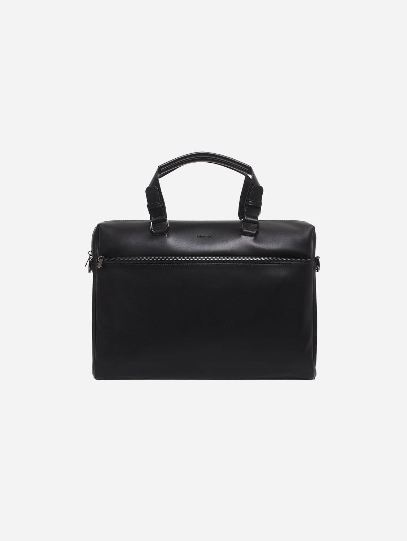 Marcel Vegan Leather Briefcase | Black