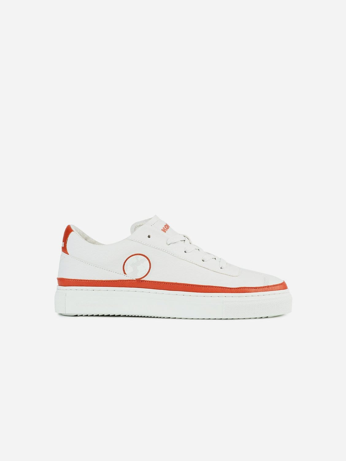 APL Apple Vegan Leather Trainer | White & Earth Red