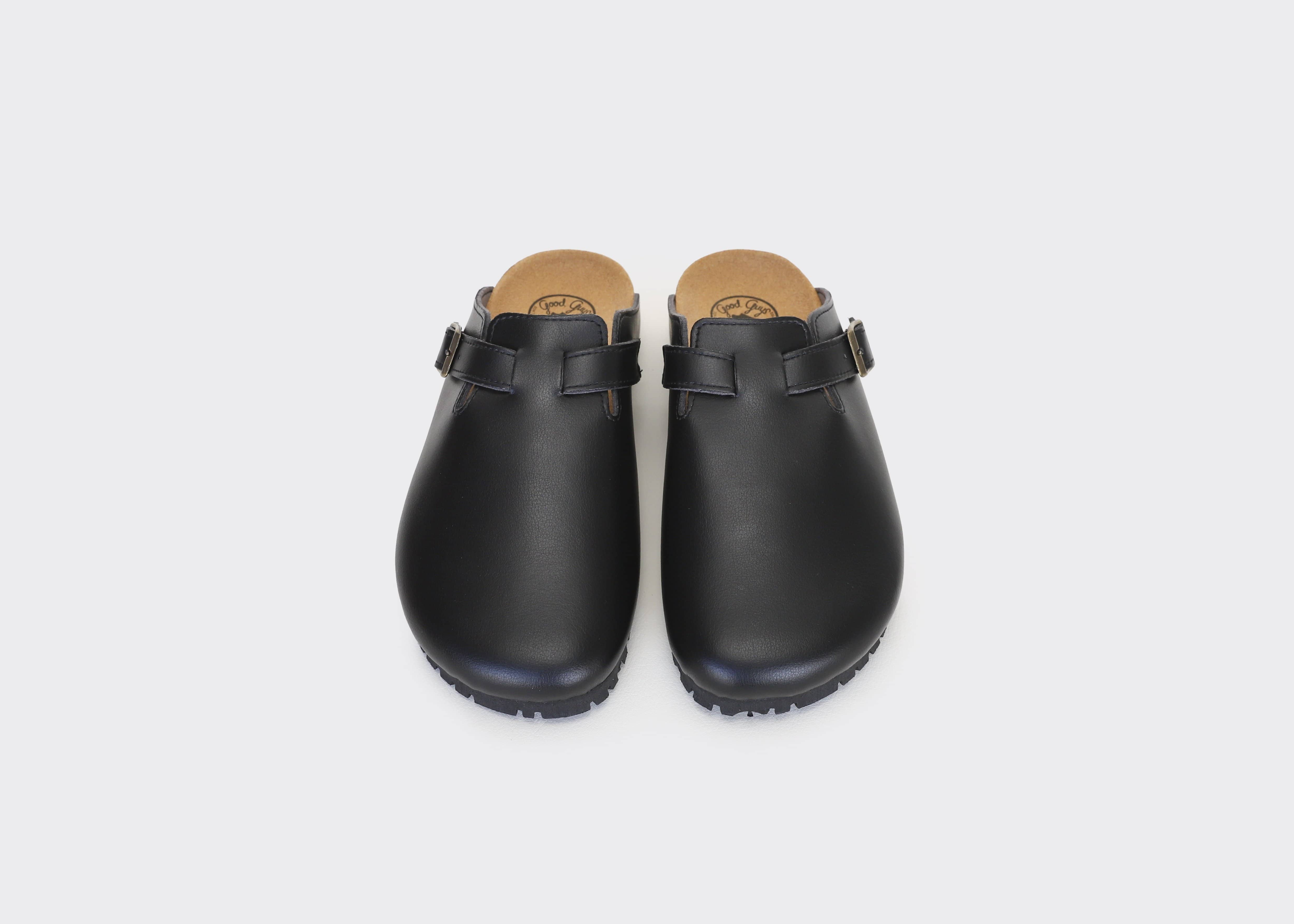 Good Guys Don't Wear Leather Gena Vegan Leather Slide-on Sandal | Black