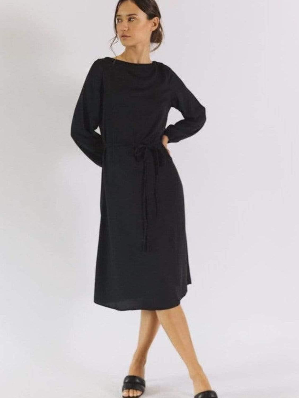 Daria TENCEL™ Vegan Silk Long Sleeve Shift Dress | Multiple Colours
