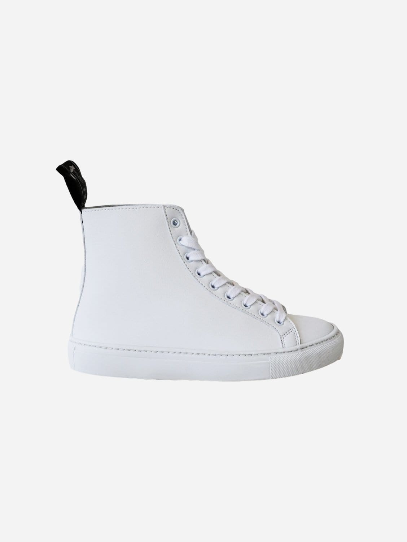 Wack Vegan Leather High-Top Trainer   White