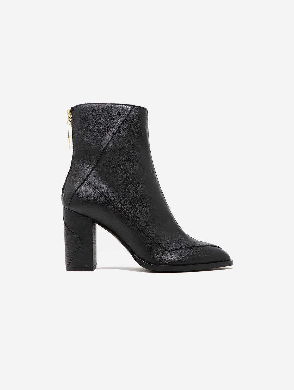 Almasi Apple Leather Vegan Boot | Black