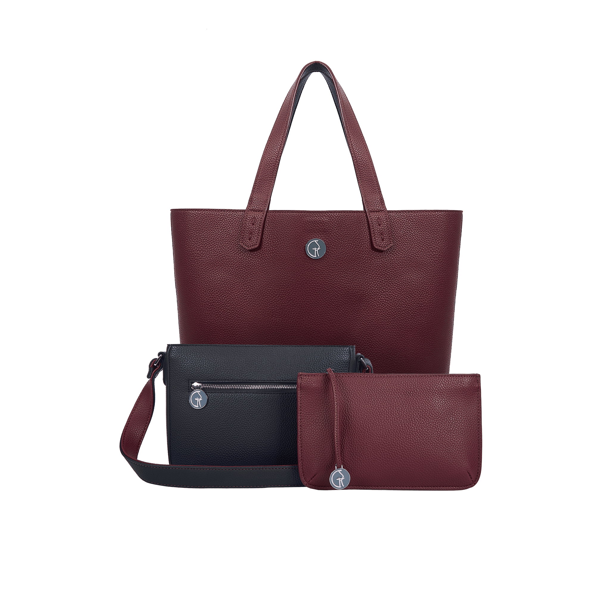 The Morphbag by GSK 3 Vegan Leather Bags in 1   Blackberry & Currant