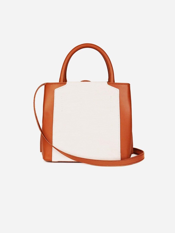 Nina E-ULTRA® Vegan Leather Mini Handbag   Tan & Cream