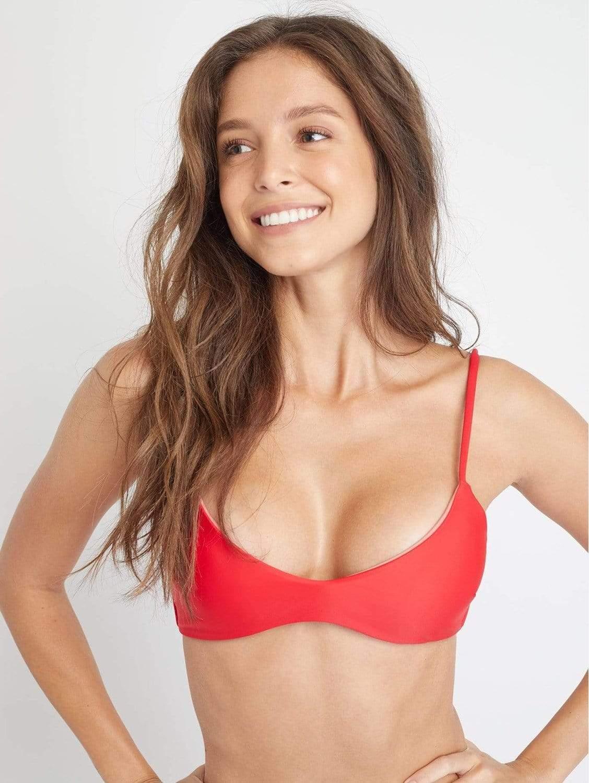 Malawi ECONYL® Bikini Top | Scarlet Red
