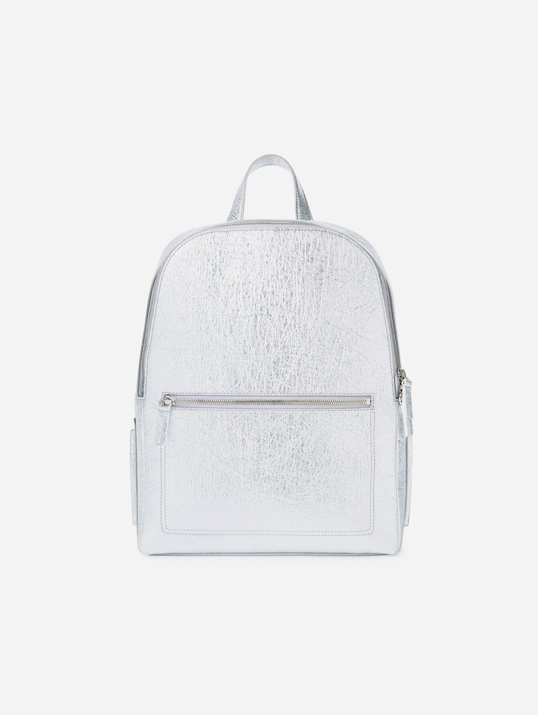 Farrell Piñatex Vegan Leather Backpack | Silver