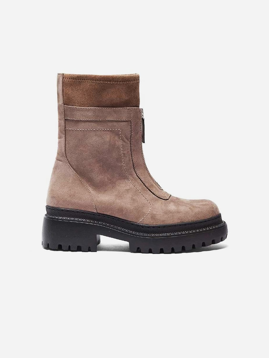 Lidia Recycled Polyester Vegan Suede Winter Boots   Taupe