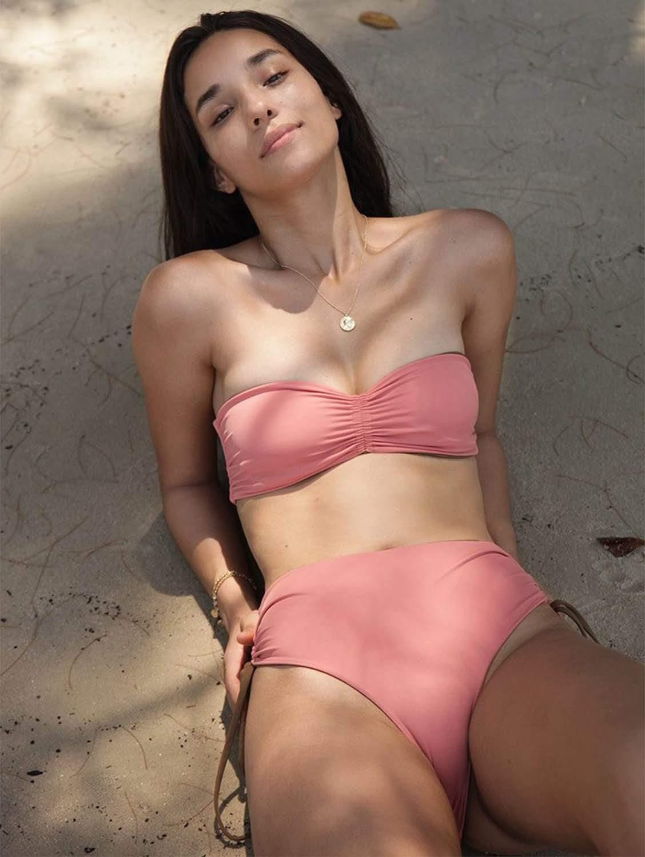 Vida ECONYL® Classic Bikini Bottom | Reversible Mocha/Dusty Coral