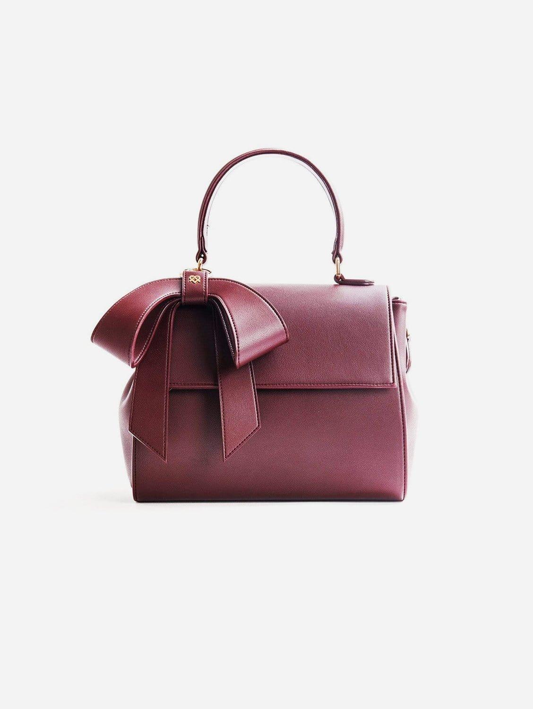 Cottontail Vegan Leather Handbag | Burgundy