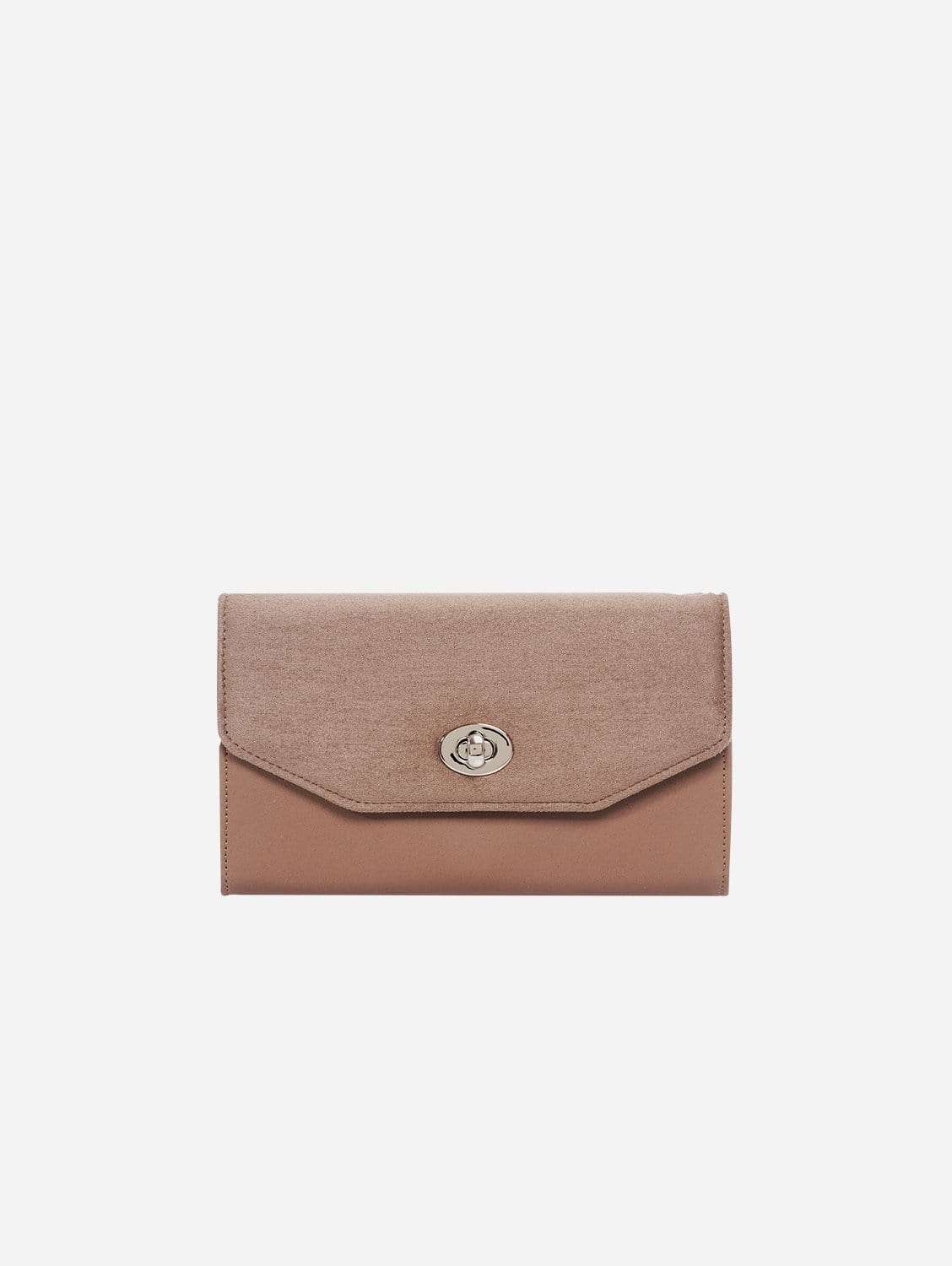 Piaf Oxymore Vegan Leather & Microsuede Clutch Bag | Taupe