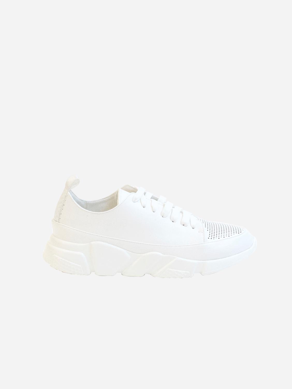 Gia Vegan Leather Trainer | White
