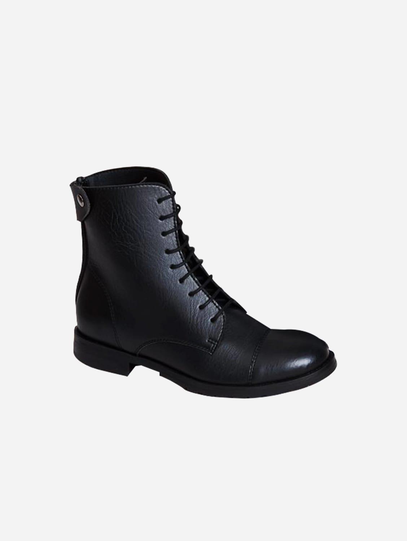 Norider Vegan Leather Riding Boots | Black