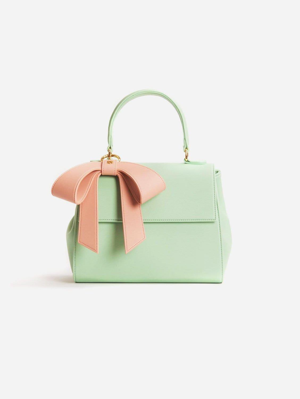 Cottontail Vegan Leather Handbag | Mint & Light Pink