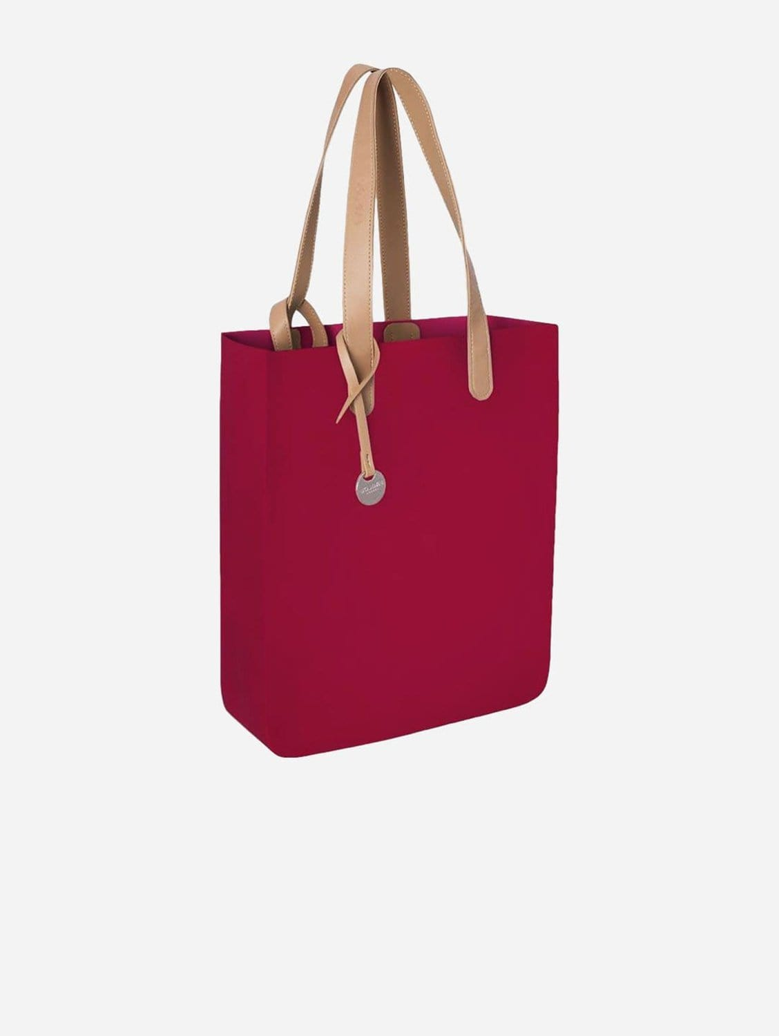 City Silicone Vegan Tote Bag | Berry