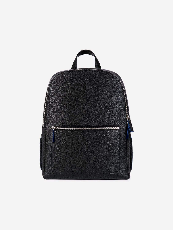 Farrell Apple Leather Vegan Backpack | Black & Blue