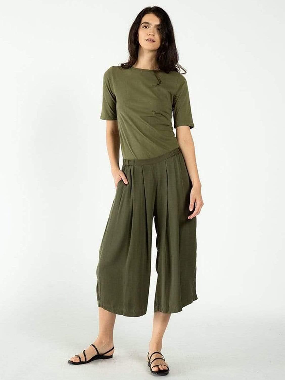 Cropped TENCEL™ Vegan Silk Culottes   Multiple Colours