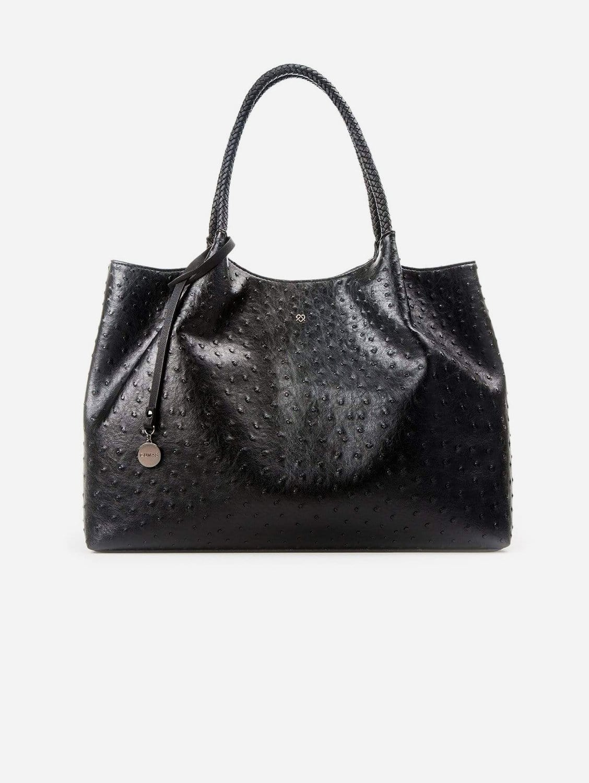 Naomi Vegan Leather Tote Bag   Black