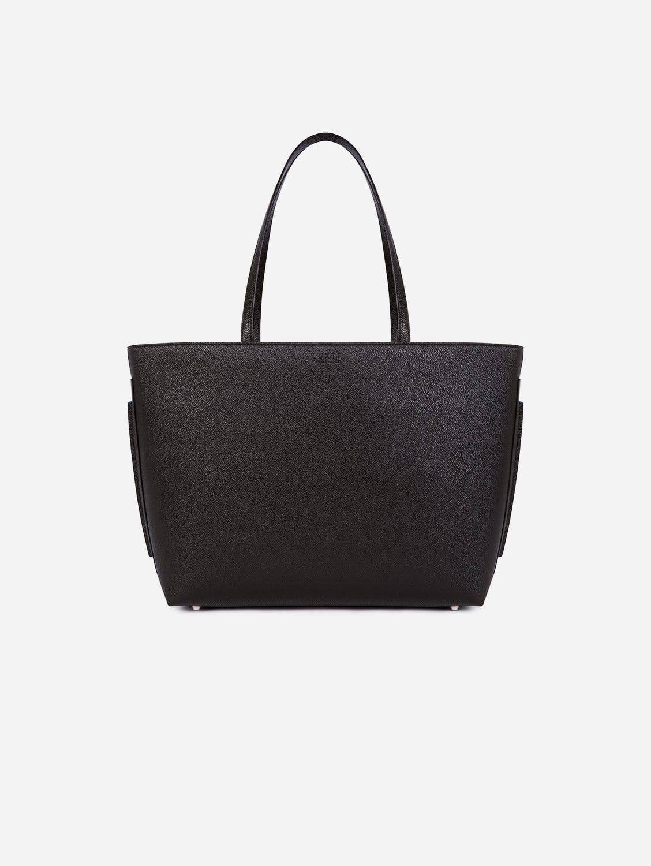 Maya AppleSkin™ Vegan Leather Tote Bag   Black & Blue