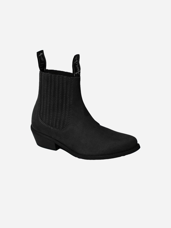 Duke Vegan Suede Cowboy Boots | Black