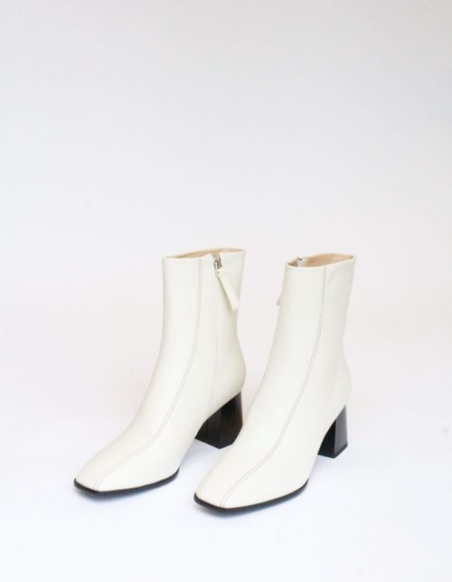 Collection & Co Roka Up-Cycled Vegan Leather Boot | Off-White