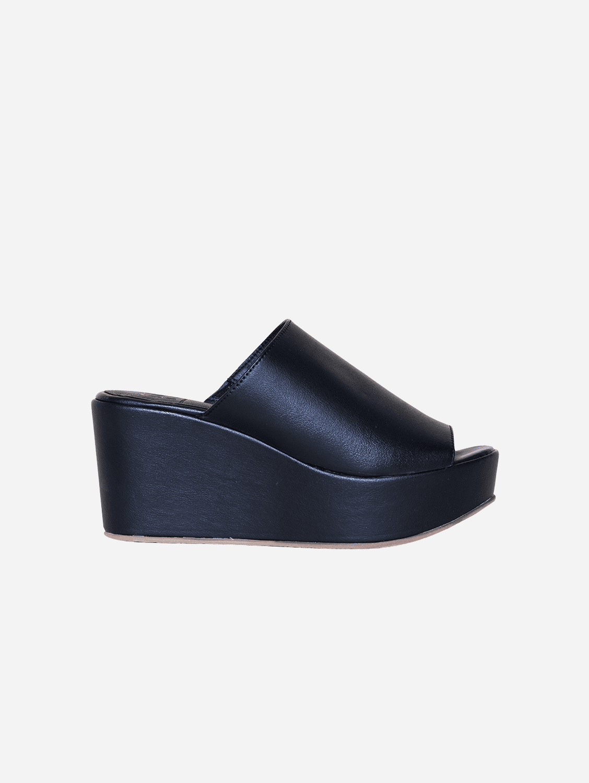 Cory Vegan Leather Platform Shoes | Black