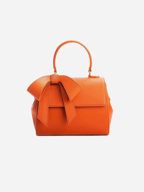 Cottontail Vegan Leather Handbag   Orange