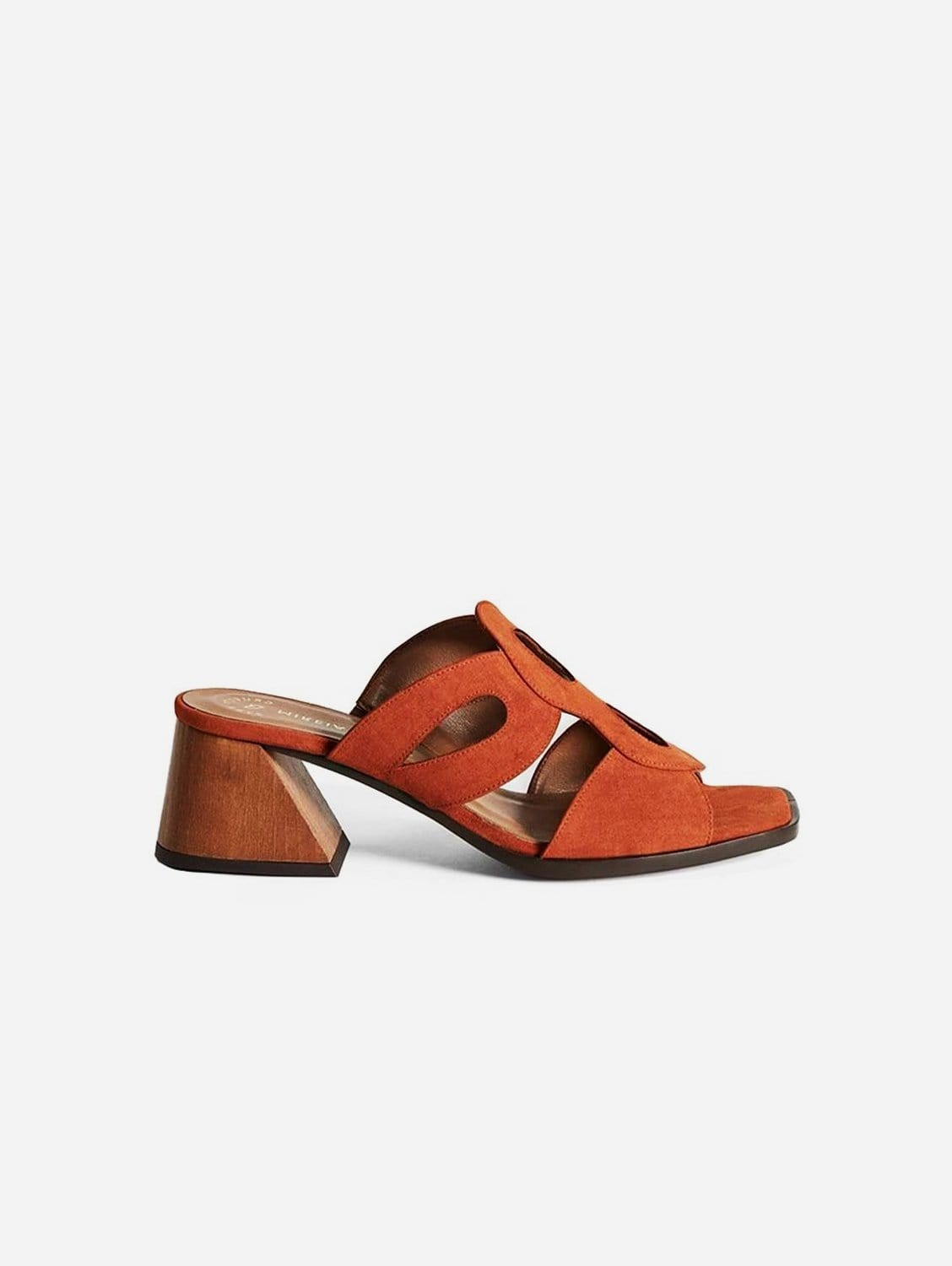 Haba Recycled Polyester Vegan Suede Mule | Brick Red