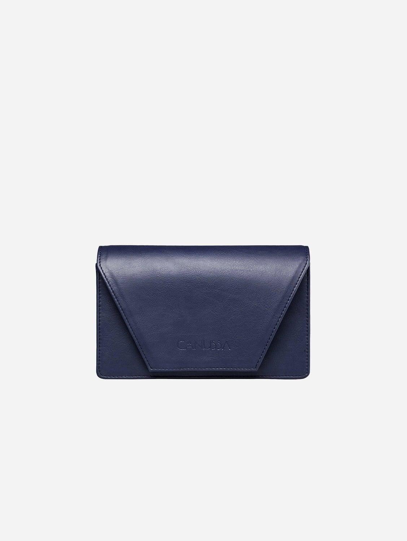 Hybrid Versatile Vegan Leather Crossbody Bag | Blue