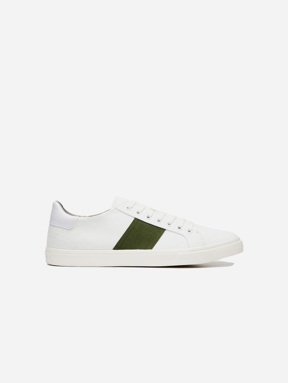 Climate Positive Recycled Canvas Trainer | White/Green