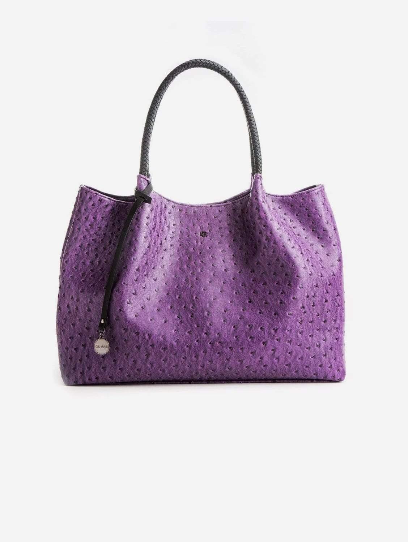 Naomi Vegan Leather Tote Bag   Purple
