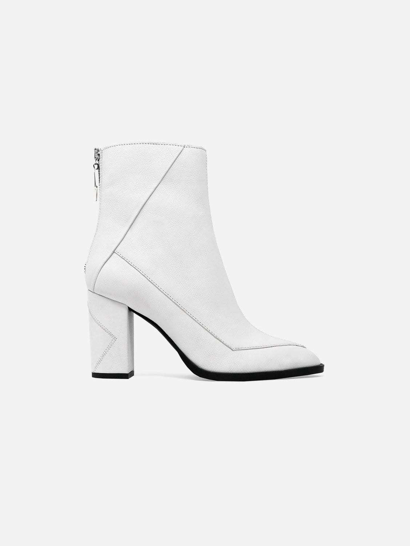 Almasi Apple Leather Vegan Boot | White