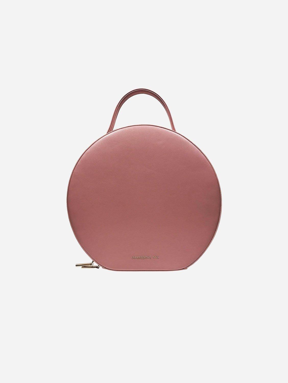 SOHO Round Vegan Leather Backpack | Blush