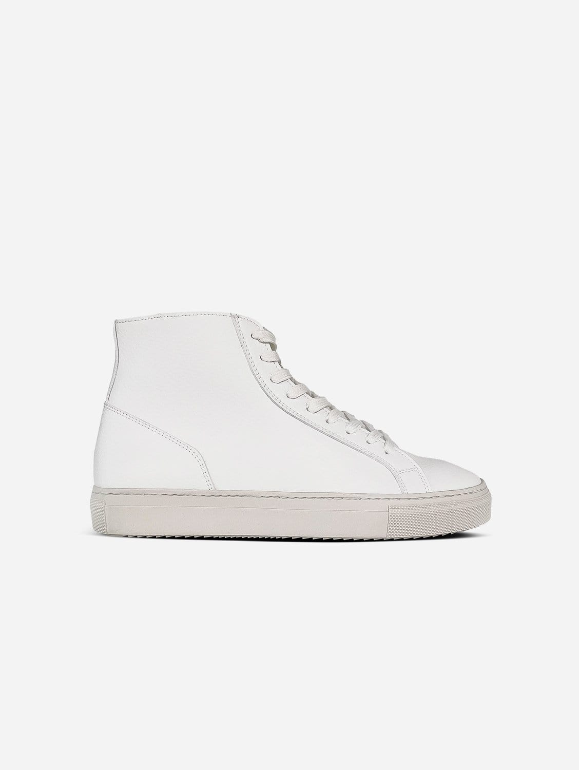 Visby V2 Sustainable Vegan Leather High Top Trainer | White