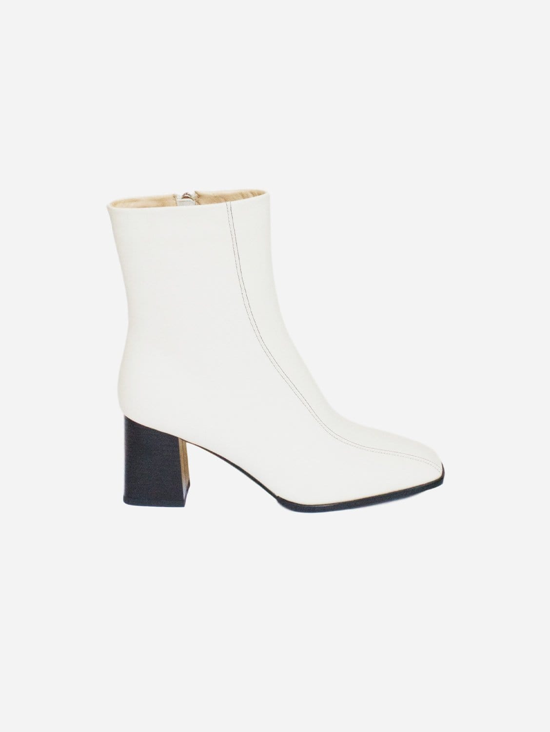 Roka Up-Cycled Vegan Leather Boot   Off-White