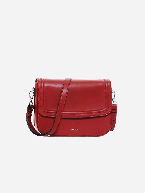 Brigitte Couture Vegan Leather Handbag   Red