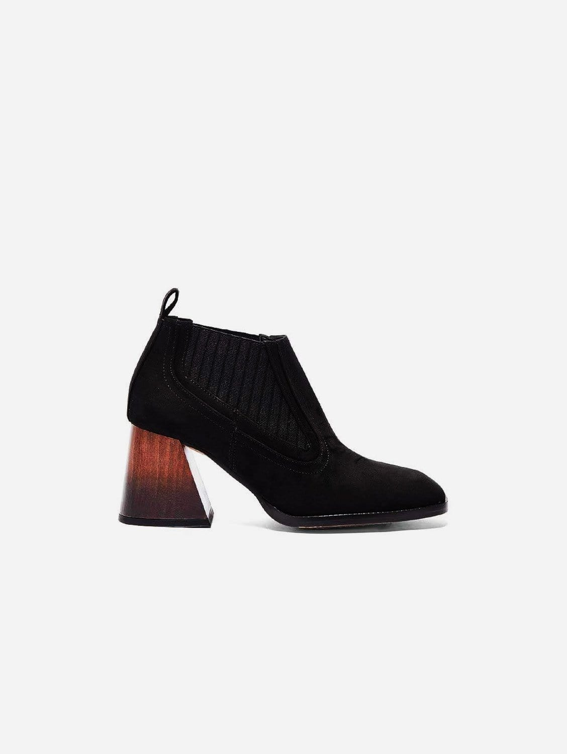 Lisa Recycled Polyester Vegan Suede Ankle Boot   Black
