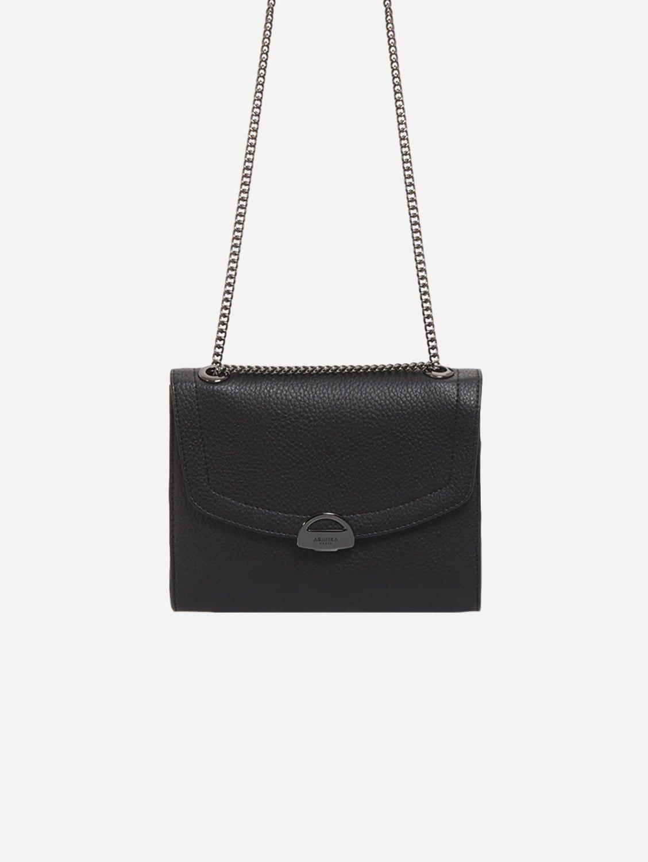 Mini Paname Grained AppleSkin Vegan Leather Crossbody | Black