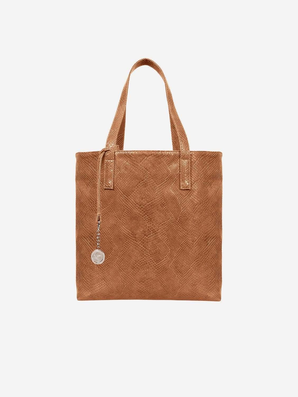 Simma Vegan Leather Tote Bag   Brown