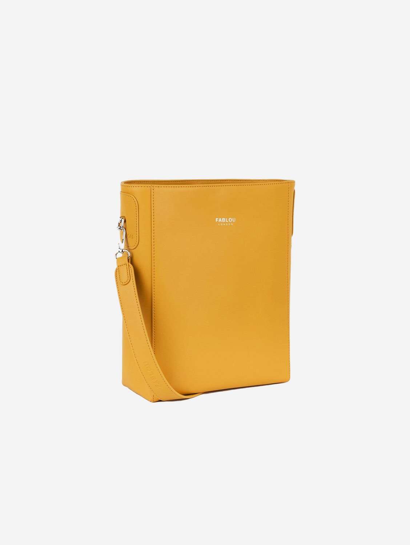 Charlotte Vegan Leather Tote Bag   Ochre