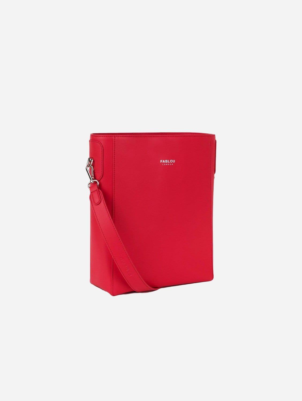 Charlotte Vegan Leather Hobo Bag | Cranberry
