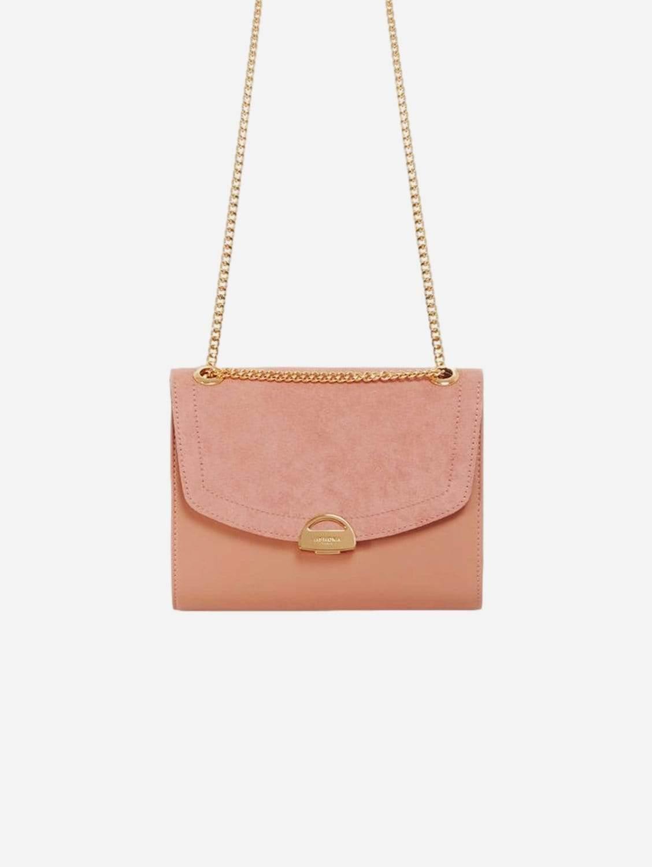 Mini Paname Oxymore AppleSkin Leather & Microsuede Crossbody | Pink Nude