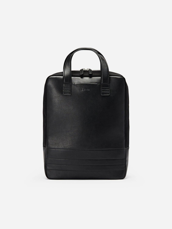 Vegan Leather Backpack/Briefcase | Black