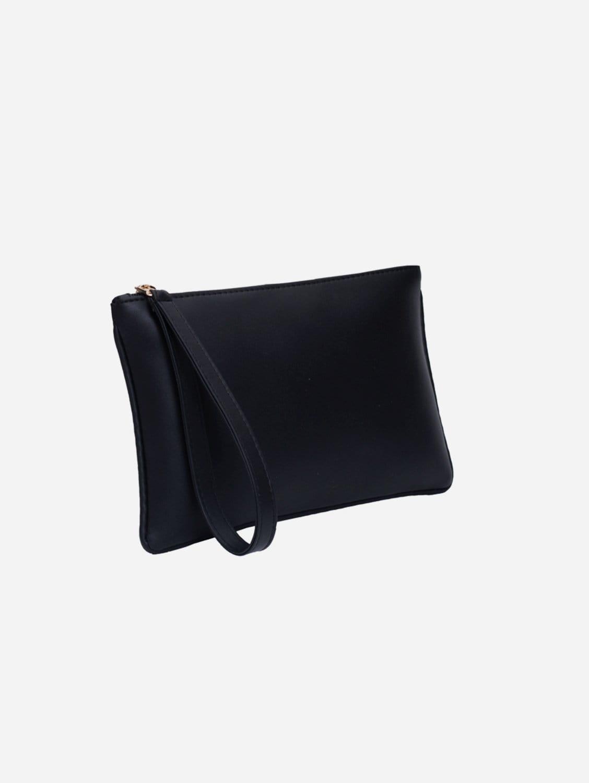 Vegan Leather Pouch Clutch | Onyx