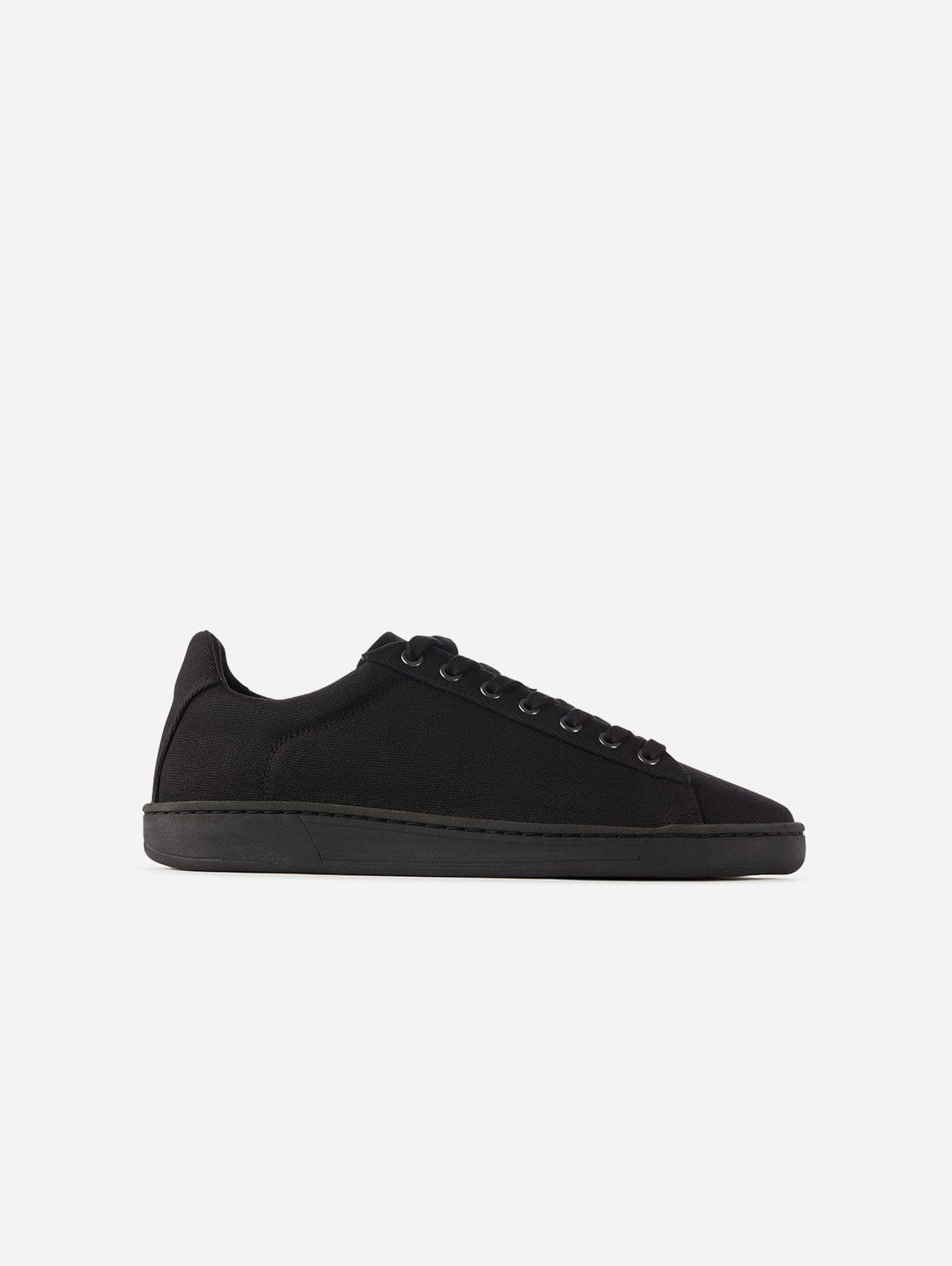Hope Plastic-Free Organic Canvas Trainer | Black