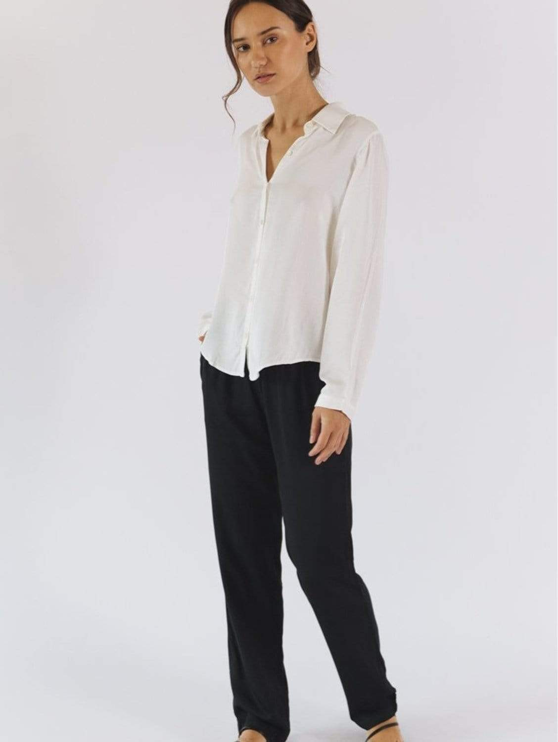 Amelie TENCEL™ Vegan Silk Relaxed Fit Trousers | Multiple Colours
