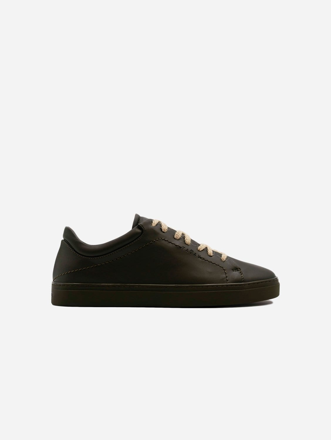Neven Vegan Leather Low-Top Trainer | Olive Green