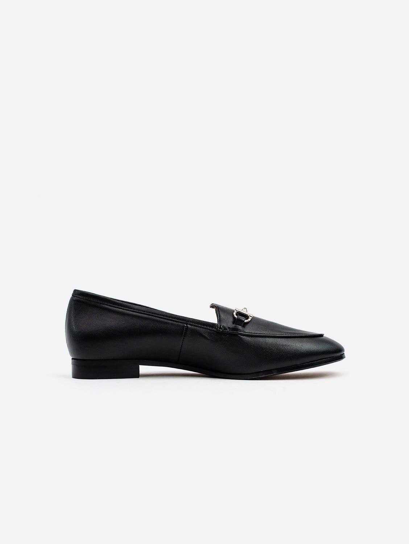 Jessica Vegan Leather Snaffle Loafer | Black