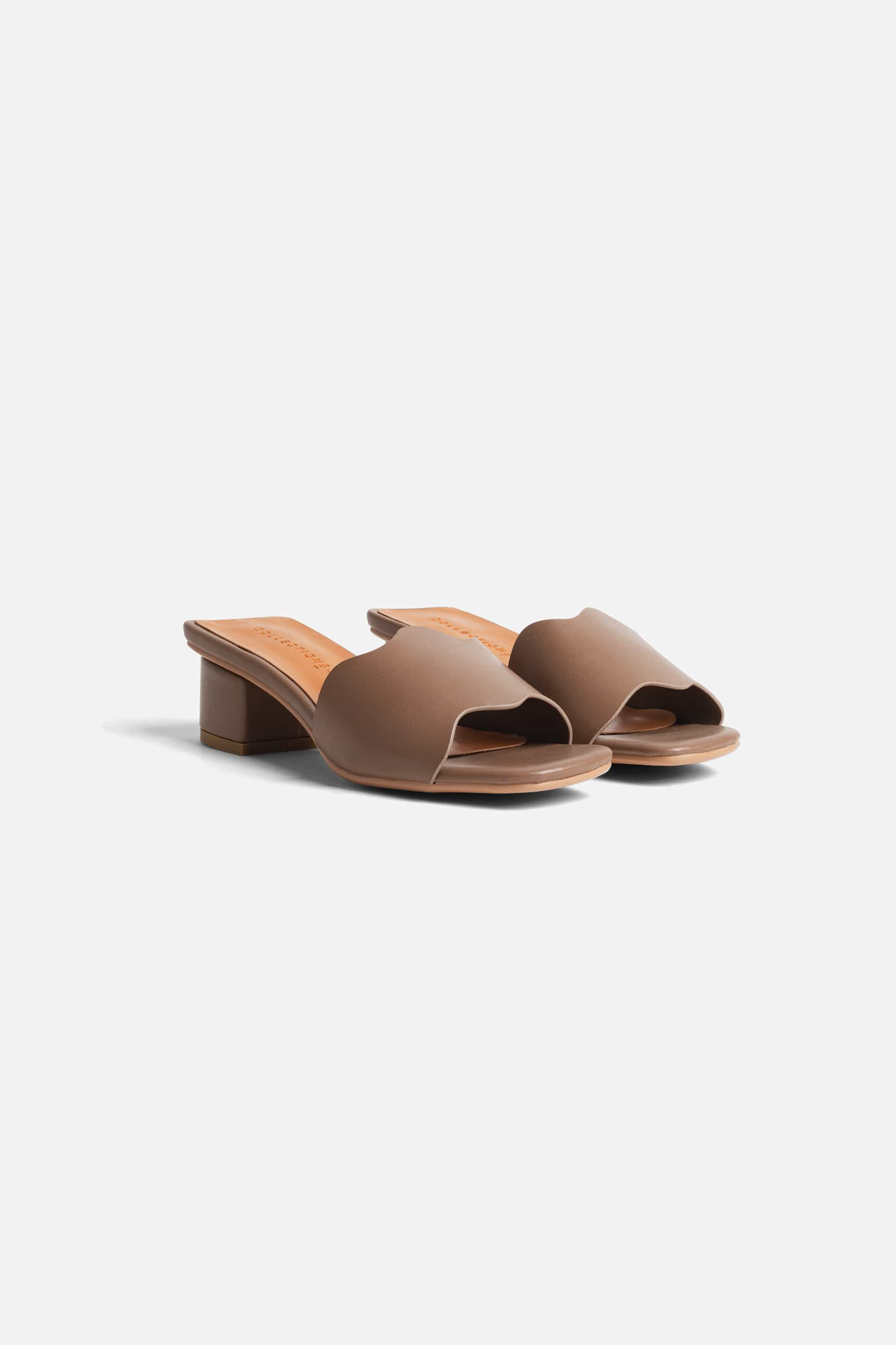 Collection & Co Kitty Up-Cycled Vegan Leather Mule | Coffee Brown