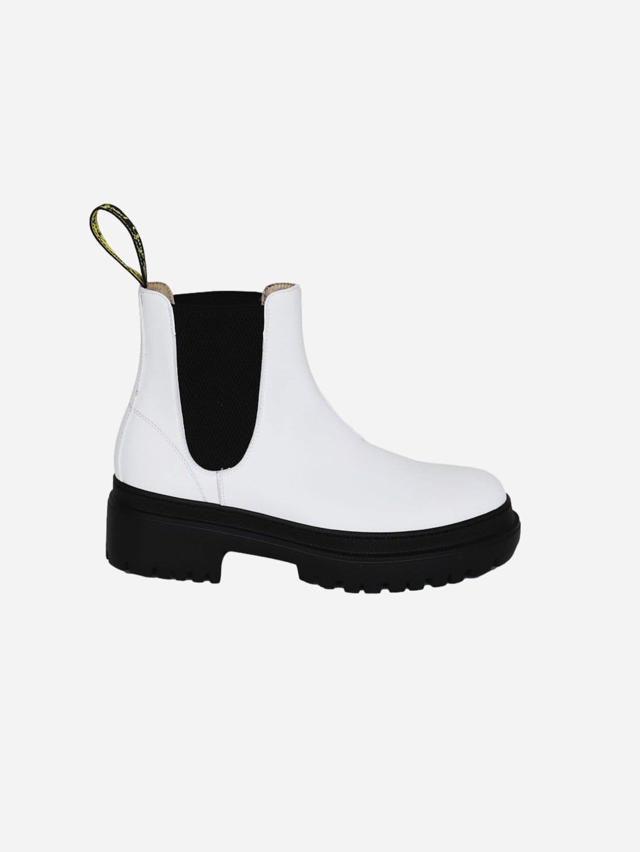 Oliver Vegan Leather Chelsea Boot   White